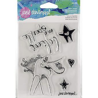 Spellbinders Jane Davenport Stamp - Unicorn Sparkle