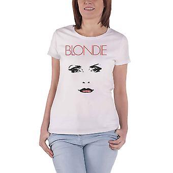 Blondie T Shirt Staredown Debbie Harry Logo new Official Womens Skinny Fit White