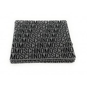 Sciarpa   Moschino Modal Multi Logo Grey/black  Cm 25x180  C21mo06