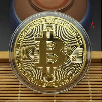 Gold/silver Plated Bitcoin Collectible  Pirate Treasure Props