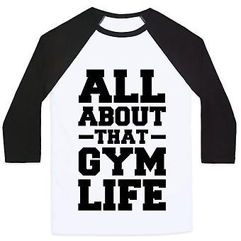 All about that gym life (cmyk) unisex classic baseball tee