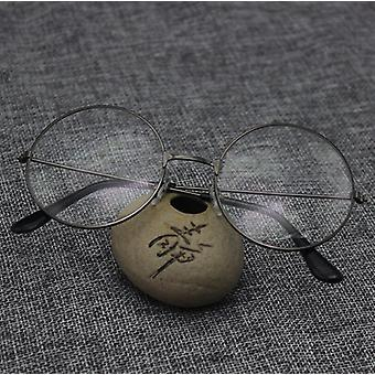Classic Vintage Frame Round Lens Flat Myopia Glasses