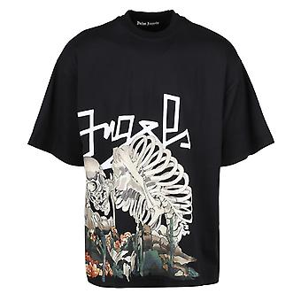 Palm Angels Desert Skull Oversize Black T-Shirt