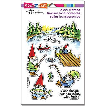 Stampendous Perfectly Clear Stamps - Gnome Fishing