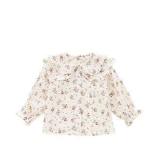 Summer Korean Floral Shirt Cotton Ruffles