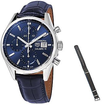 Tag Heuer Carrera Chronograph Automatic Blue Dial Men's Watch CBK2112.FC6292