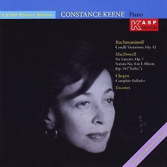 Constance Keene - importazione USA pianista Costanza Keene riproduce musica di Chopin Rach [CD]