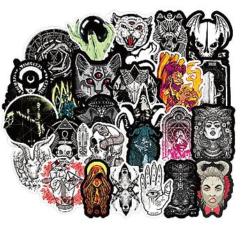 New Gothic Style Horror Devil Witch Graffiti Stickers