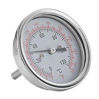 Meat Thermometer Stainless Steel 63mm Dial 0℃~120℃bbq Grill Monitor Round Temperature Gauge For Kitchen