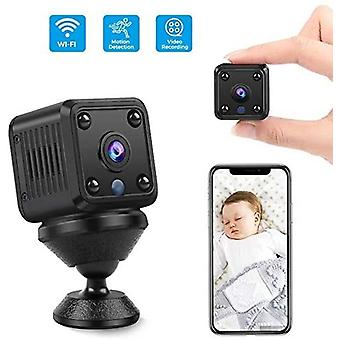 Mini Spy Camera WiFi Hidden Camera HD 1080P Wireless Micro Camera Surveillance Recording with Night Vision Motion Detection for Home Office Indoor Outdoor-black