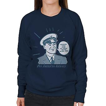 Pan Am Thank You For Flying With Pan Am Women's Sweatshirt