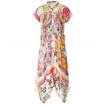 Johnny Was Olivia Silk Midi Dress