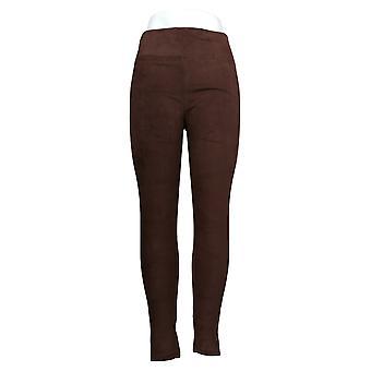 Cuddl Duds Leggings Fleecewear Stretch Pull On Waist Brown A342094