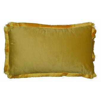 cushion 50 x 30 cm velvet yellow