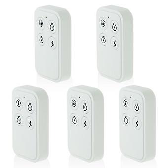 433MHz Wireless Remote Controller für Alarmsystem, Weiß (7er)