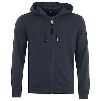 True Religion Arch Logo Zip Hooded Sweatshirt - Night Sky
