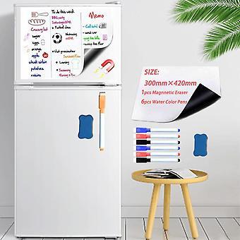 Soft Fridge Stickers Size 300*420mm Magnetic Whiteboard