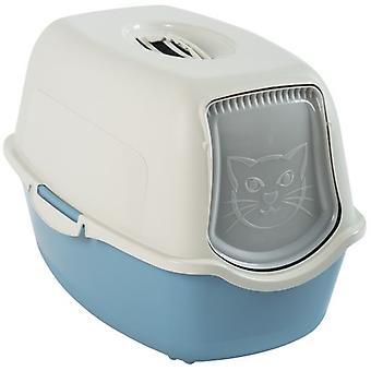 Rotho Bailey Rothopro Cat Litter Box Sky Blue Base und weißer Deckel