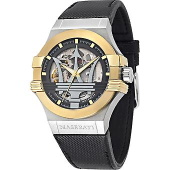 Maserati R8821108037 Men's Black Strap Potenza Automatic Wristwatch