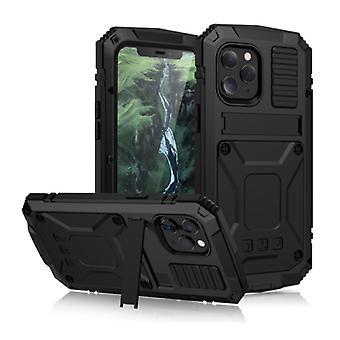 Material Certificado® iPhone 11 Pro Max 360 ° Caixa de Caixa de Corpo Completo + Protetor de Tela - Capa à prova de choque Preto