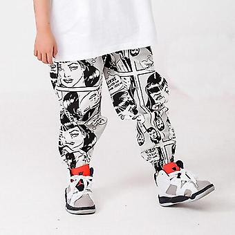 Kids Hip Hop Tøj Overdimensioneret T-shirt Cartoon Running Casual Pants