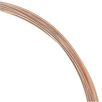 14K Rose Guld Fyldt Runde Wire 20 Gauge Tyk - 0,5 Troy Ounces