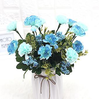 5pcs flores artificiales lila clavel disparando apoyos