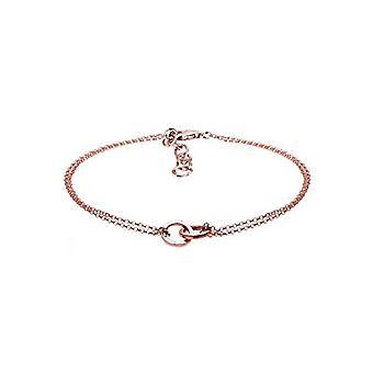 Elli Sterling 925 zilveren en zilveren dames armband, kleur: rose goud, kabeljauw. 0202160617_17