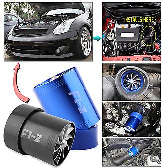 New Super Charger Double Turbonator Air Intake Fuel Saver Turbo Charger Fan