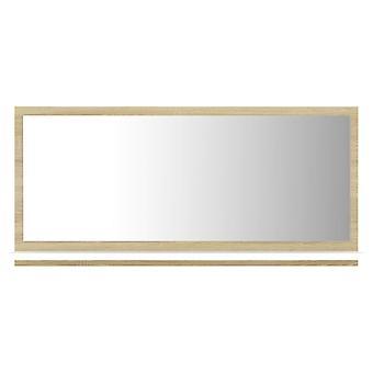 vidaXL Badspiegel Weiß und Sonoma-Eiche 80x10,5x37 cm Spanplatte