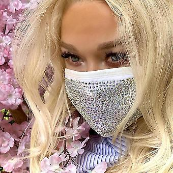 White crystal masquerade face mask for female vintage party accessories mouth mask party nightclub jewelry gift fa1023