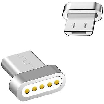 2pcs Micro Usb Magnetic Adapter Magnetic Replacement Plug-without Cable