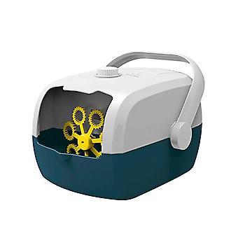Automatic Bubble Machine Portable Children Bubble Machine For Suitcase Wedding Stage(Blue)
