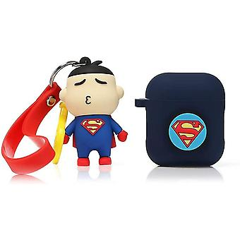 Shockproof Protective Silicone Case for your Apple AirPods  1 and 2- Superman 1pc