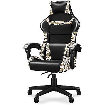 Gaming Stuhl Camouflage Racing Bürostuhl, Komfort Zocker, Optimal Untersützt die Wirbelsäule,
