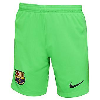2021-2022 Barcelona Home Goalkeeper Shorts (Green) - Kids