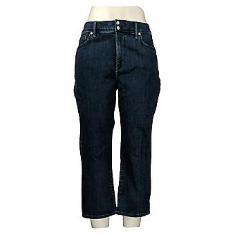 NYDJ Jeans de mujer Cool Abrazar Skinny Crop con rendijas laterales azul A377692