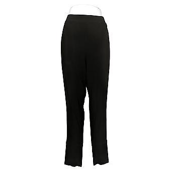 MarlaWynne Women's Plus Pants Matte Jersey Slouched w/Pockets Black 664944