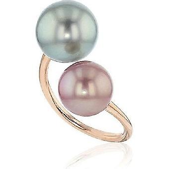 Luna-Pearls Pearl Ring - Tahiti 11-12mm Freshwater 9-10mm 14K RG Gr 56 (17.8mm)