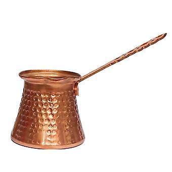 1PC Cafetera de cobre duradera con mango de madera (hecha a mano)