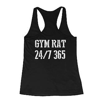 Gym rotte 24/7 365 tilbage udskrive kvinders Workout Tank Top uden ærmer Sports Tank