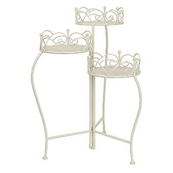 Plutus Brands Metal Plant Stand in White Metal - PBTH92397