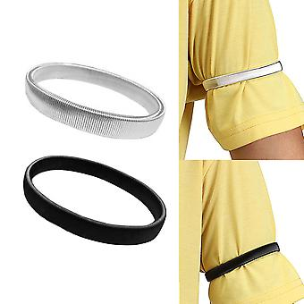 Porte-manches chemise Brassards élastiques en métal pour hommes Dames