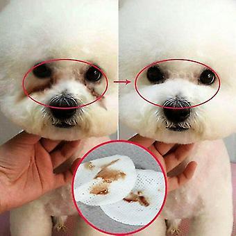 Pet Dogs / pisici Ochi de curățare Wet Wipes-Tear Stain Remover Hârtie Țesut