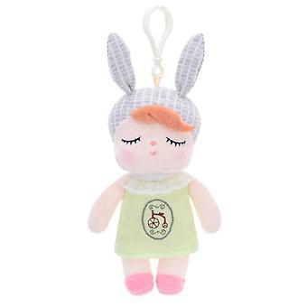 sovende kanin jente baby fylt plysj dukker ryggsekk anheng 15cm
