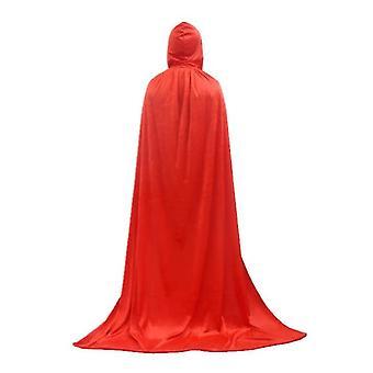 Unisex Kapuzenmantel, voller langer Samtumhang für Halloween Cosplay Kostüme