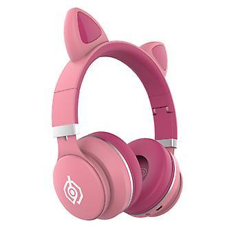 Headphones Cute Cat Ears Wireless Bluetooth Headset Headset