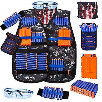Kit de gilet tactique pour enfants pour nerf gun série pour garçons avec accessoires