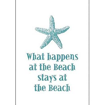 What Happens at the Beach Starfish Destination Cotton Kitchen Dish Towel