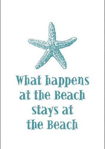 What Happens at the Beach Starfish Destination Cotton Kitchen Dish Towel
